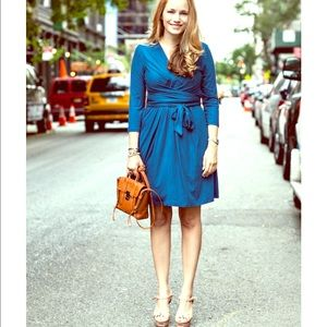 Gorgeous blue Issa London for BR wrap dress